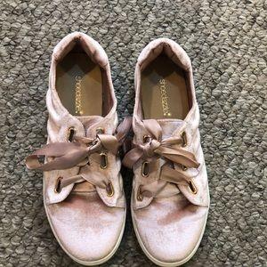 Velvet sneakers!